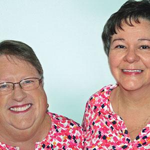 Pam Lewis & Susan Rohm of Praiseworthy Stitches