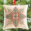 The Christmas Stitch -- Evergreen Star Ornament