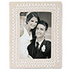 Beaded Whitework Wedding Frame