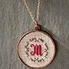 Christmas Monogram Pendant