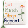 Eat, Stitch, Sleep Needlebook