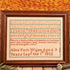 Alice Park 1832 Reproduction Sampler