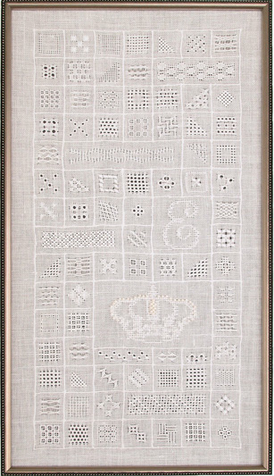 Crown of Pearls Whitework Sampler